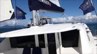 Leopard 44 Catamaran sailing in Vancouver, B.C. Canada