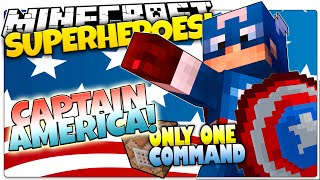 getlinkyoutube.com-Minecraft | How To Be A Superhero! | CAPTAIN AMERICA! | Only One Command (One Command Creation)