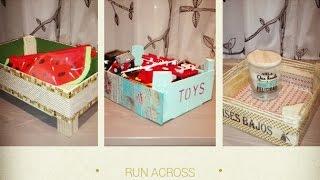 getlinkyoutube.com-3 ideas para decorar cajas de fresas,diy recycled wood box