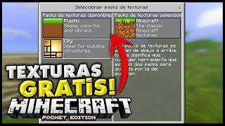 getlinkyoutube.com-COMO OBTENER LOS PAQUETES DE TEXTURA GRATIS! - Minecraft PE 0.15.0 Tutorial