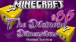 "getlinkyoutube.com-""5 LUCKY BLOCKS!"" | Diamond Dimensions Modded Survival #86 | Minecraft"