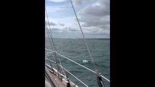 getlinkyoutube.com-Vancouver 27' sailing under Yankee, Staysail & 2 reefs