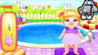getlinkyoutube.com-Babysitter App deutsch | Kinder im Pool, beim Malen und Puppen selber machen | Babysitter Madness