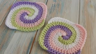 getlinkyoutube.com-How to Crochet a Spiral Granny Square