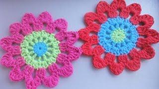 getlinkyoutube.com-Цветочный мотив Floral Motif Crochet