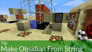 getlinkyoutube.com-Tip: Make Obsidian From String in Minecraft