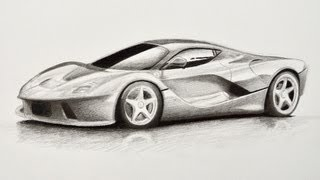 getlinkyoutube.com-How to Draw a Car: Ferrari - Fine Art-Tips