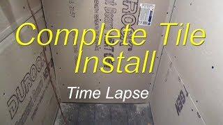 getlinkyoutube.com-Complete bathroom shower install time lapse start to finish