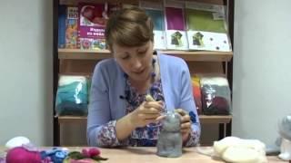 getlinkyoutube.com-Создание мягкой игрушки на пенопластовой основе, сухое валяние шерсти