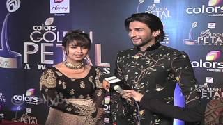 getlinkyoutube.com-Manish and Avika Gor aka Sidhant and Roli at Golden Petal Awards
