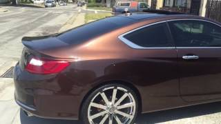 getlinkyoutube.com-2013 Honda Accord Coupe on 22s/ Update Video
