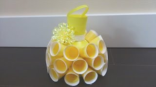 getlinkyoutube.com-Recycling Ideas: Beautiful Dress out of Plastic Bottles and Cups