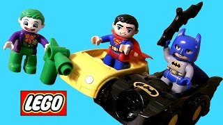 getlinkyoutube.com-LEGO DUPLO Superheroes Batman Vs. Superman Joker Challenge & Superman Rescue Blocks