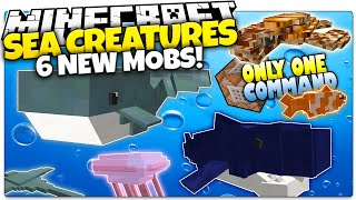 getlinkyoutube.com-Minecraft   SEA CREATURES!   Sharks, Whales, & More   Only One Command (Minecraft Custom Command)
