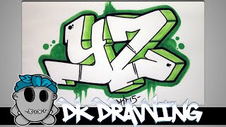getlinkyoutube.com-How to draw graffiti - Graffiti Letters YZ step by step