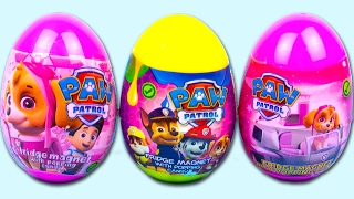 getlinkyoutube.com-3 Surprise Eggs Paw Patrol, Awesome Surprise Toys in Pink Plastic Egg for Kids