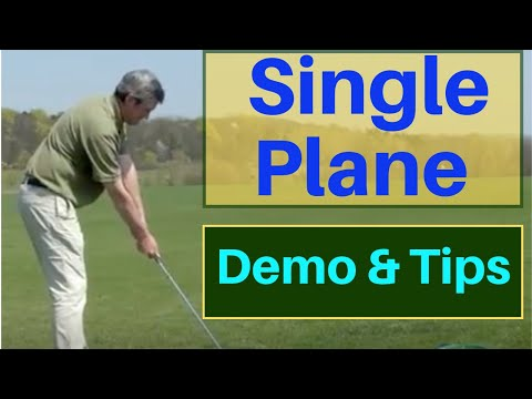 Single Plane (axis) Golf Swing Demo - best online golf instruction - easy to learn