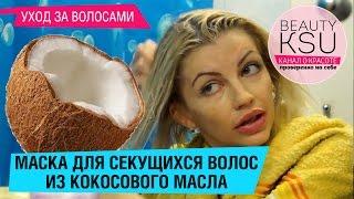 getlinkyoutube.com-Как предотвратить сечение волос. Маска от секущихся кончиков (кокосовое масло, сметана)от Beauty Ksu