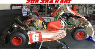 getlinkyoutube.com-eShifter Kart Project Lightning Tony Kart Racer 401 Debei Motori ICC 125cc KZ Shifter Kart Build