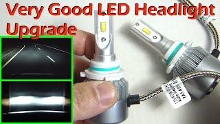 getlinkyoutube.com-VERY GOOD LED Headlight Upgrade 9006 - SIMDEVANMA C6F