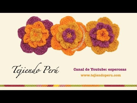 Como tejer flores onduladas a crochet