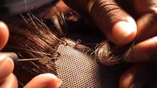 getlinkyoutube.com-Ventilating with a latch-hook needle