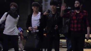 getlinkyoutube.com-160319 Super Junior at Suvarnnabhumi airport (back to Korea  )