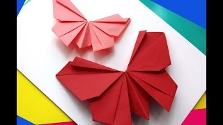 getlinkyoutube.com-Origami butterfly - Easy to do. Paper butterfly - Wall decoration - decor