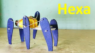 getlinkyoutube.com-How to make six legged robot - Hexa - DIY Robot