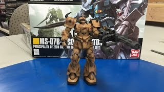 getlinkyoutube.com-Complete Building  and camo painting of a Bandai Gundam Gouf Custom