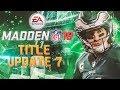 Madden 18 Title Update 7 Details! Pump Fake, RB Cut Blocking, ALL Madden Simulation Gamestyle Fix!