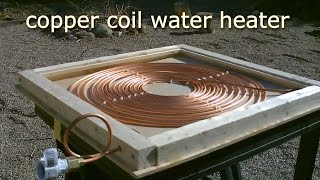 getlinkyoutube.com-DIY Solar Water Heater! - Solar Thermal COPPER COIL Water Heater! - Easy DIY (Full instr.) 170F