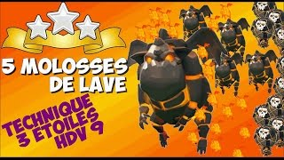 getlinkyoutube.com-[TUTO] Le penta-molosses (5 molosses) | Destruction massive d'HDV 9 | ÉNORME ! | Clash of Clans FR