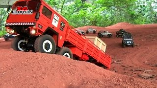 getlinkyoutube.com-10 Scale Trucks offroad RC 4x4 Adventures - Man Kat scx10 land rover defender 110 rc4wd hilux