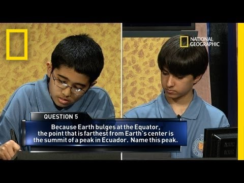 2013 National Geographic Bee's Final Moments