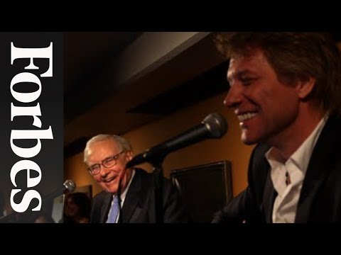 Warren Buffett & Jon Bon Jovi: A Ukulele Duet For Charity