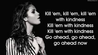 getlinkyoutube.com-Selena Gomez - Kill Em With Kindness (lyrics on Screen) (Best Cover)