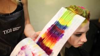getlinkyoutube.com-Creating colorful hair w/ Joico and Pravana