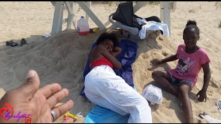 getlinkyoutube.com-Ratchet lifeguard FIRED after getting caught lounging in the shade, babysitting & drinking kool-aid
