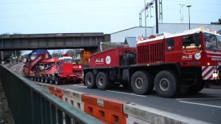 getlinkyoutube.com-A.L.E Heavy Haulage Unipower - North London Electrical Transformer move