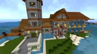 getlinkyoutube.com-Minecraft Inselvilla (Modernes Haus)/ Texture Packs [HD]