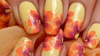 getlinkyoutube.com-Nail art Sunny flower