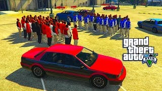 getlinkyoutube.com-GTA 5 -  THE BIGGEST WAR BLOODS VS CRIPS (GTA 5 SHORT SKIT)