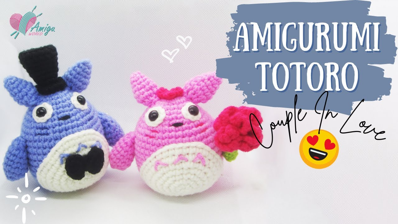 FREE Pattern – Crochet a COUPLE TOTORO amigurumi for beginner