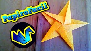 getlinkyoutube.com-Origami Facil || Como hacer una estrella de 5 puntas