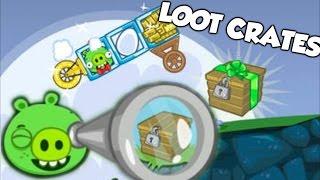 getlinkyoutube.com-Bad Piggies - CUSTOM WHEELS UNLOCKED (Hidden Loot Crates)