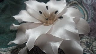 getlinkyoutube.com-Цветы из атласной ленты  своими руками  Пошаговое фото