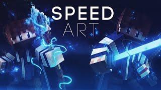 getlinkyoutube.com-[13] Minecraft | Banner Speed Art : New C4D Minecraft Rig!!!