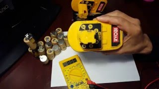 getlinkyoutube.com-How to check for bad rechargeable batteries with a multimeter