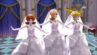 [MMD] Wedding Princess Peach Daisy and Rosalina